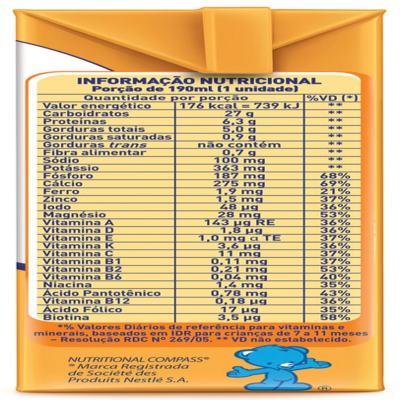 Imagem 4 do produto Bebida Láctea Nestlé Mucilon Prontinho Banana com Pêssego 190ml