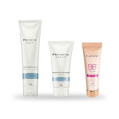 Imagem 1 do produto Kit Avon Limpeza, Hidratação e Bbcream - Pele Clara