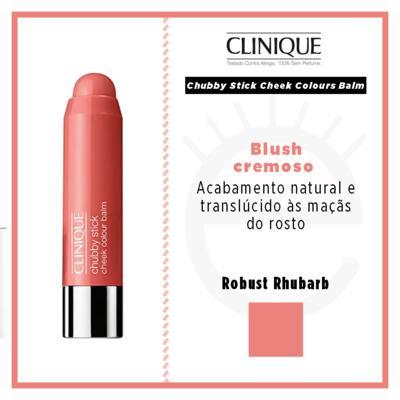 Imagem 5 do produto Chubby Stick Cheek Colours Balm Clinique - Blush - Robust Rhubarb