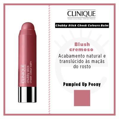 Imagem 5 do produto Chubby Stick Cheek Colours Balm Clinique - Blush - Pumpled Up Peony