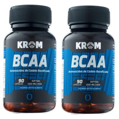 Imagem 1 do produto Suplemento BCAA Krom 90 Cápsulas 2 Unidades