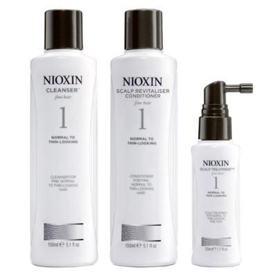 Nioxin System 1 Kit - Shampoo + Condicionador + Leave-in - Kit