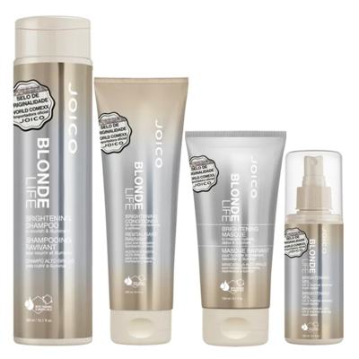 Imagem 1 do produto Joico Blonde Life Brightening Kit - Máscara + Leave-In + Condicionador + Shampoo - Kit