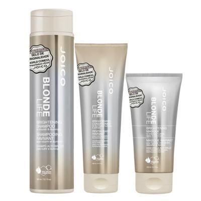 Imagem 1 do produto Joico Blonde Life Brightening Kit - Máscara + Condicionador + Shampoo - Kit