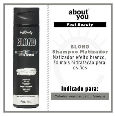 Imagem 2 do produto About You Fast Beauty Blond - Shampoo Matizador Efeito Branco - 300ml