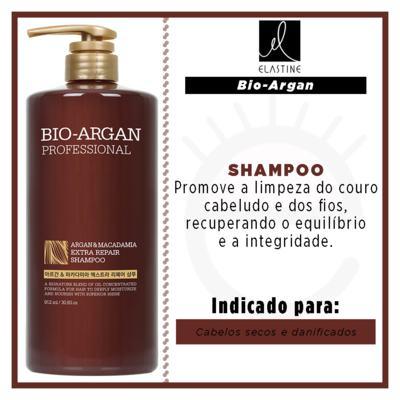 Imagem 2 do produto Elastine Bio Argan & Macadâmia - Shampoo Profissional - 912ml