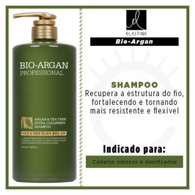 Imagem 2 do produto Elastine Bio Argan & Teatree - Shampoo Profissional - 912ml