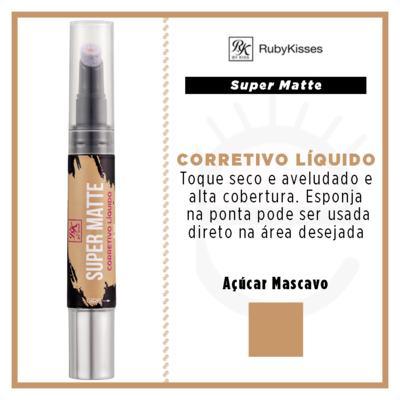 Imagem 4 do produto RK by Kiss Corretivo Líquido Super Matte - Açúcar Mascavo