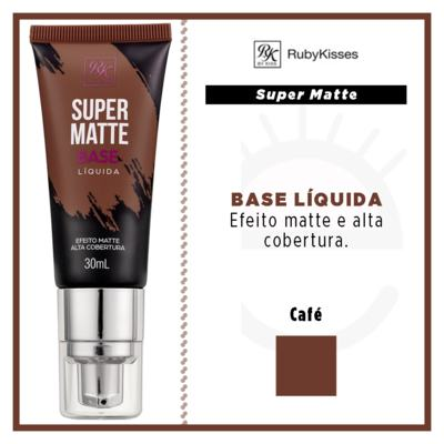 Imagem 4 do produto Base Líquida RK by Kiss - Super Matte - Café