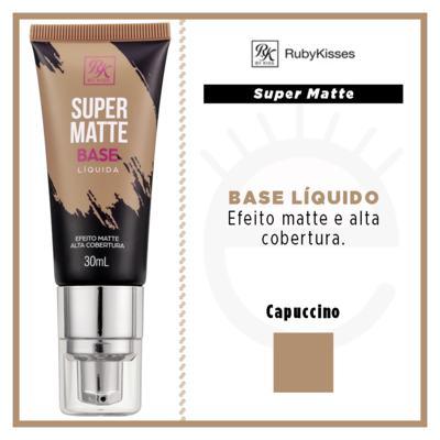 Imagem 4 do produto Base Líquida RK by Kiss - Super Matte - Cappuccino