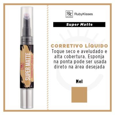 Imagem 4 do produto RK by Kiss Corretivo Líquido Super Matte - Mel