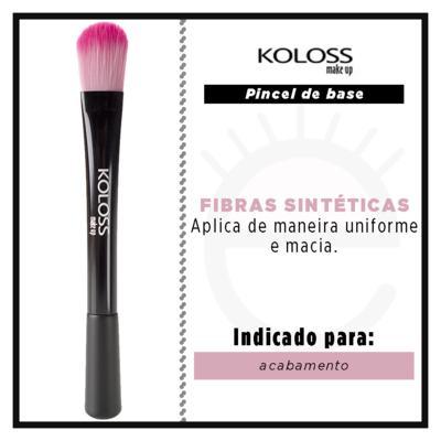 Imagem 2 do produto Pincel para Base Koloss - Pink BK4 - 1 Un