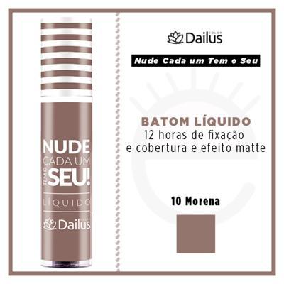 Imagem 4 do produto Batom Líquido Nude Dailus Color - 10 Morena