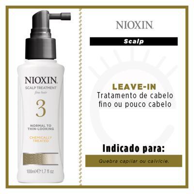 Imagem 2 do produto Nioxin System 3 Scalp Treatment Leave-In - 100ml