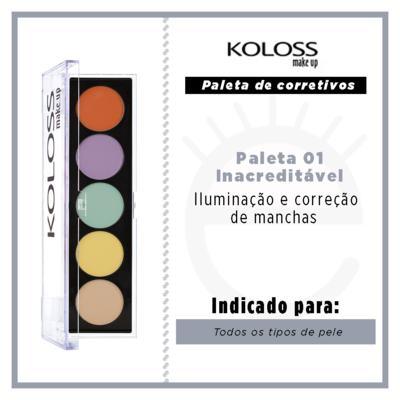 Imagem 4 do produto Paleta de Corretivo Camuflagem Koloss - 01 Inacreditável - 1 Un