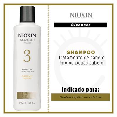 Imagem 2 do produto Nioxin System 3 Scalp Cleanser - Shampoo - 300ml