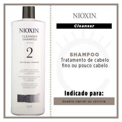 Imagem 2 do produto Nioxin System 2 Scalp Cleanser - Shampoo - 1L