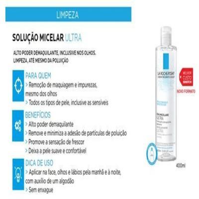 Imagem 5 do produto Solução Micelar Eau de Micellaire UltraLa Roche-Posay - Demaquilante - 400ml