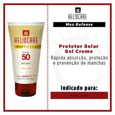 Imagem 3 do produto Max Defense Gel Color Heliocare - Protetor Solar - Nude Bronze