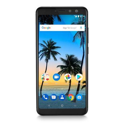 """Imagem 1 do produto Smartphone Multilaser MS80 4GB RAM + 64GB Tela 5,7"""" HD+ Android 7.1 Qualcomm Dual Câmera 20MP+8MP Preto - P9066 - P9066"""