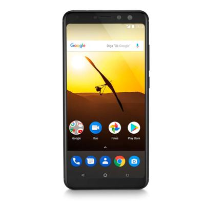 """Imagem 1 do produto Smartphone Multilaser MS80 3GB RAM + 32GB Tela 5,7"""" HD+ 4G Android 7.1 Qualcomm Dual Câmera 20MP+8MP Preto - P9064 - P9064"""