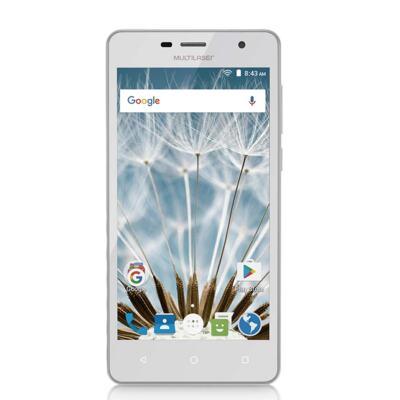 "Imagem 1 do produto Smartphone MS50S 3G tela 5"" dual câmera 5MP+8MP Android 6.0 Multilaser branco - NB263 - NB263"