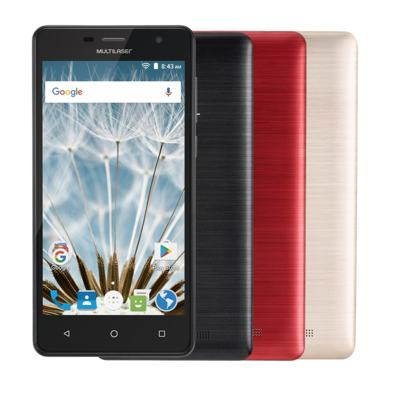 "Smartphone MS50S Colors 3G Tela IPS de 5"" Android 6 Dual Câmera 5+8MP Multilaser Preto - NB704 - NB704"