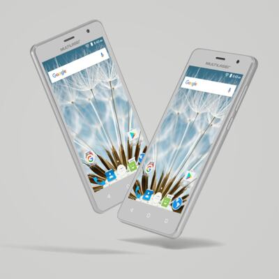 "Imagem 22 do produto Smartphone MS50S Colors 3G Tela IPS de 5"" Android 6 Dual Câmera 5+8MP Multilaser Branco - NB705 - NB705"