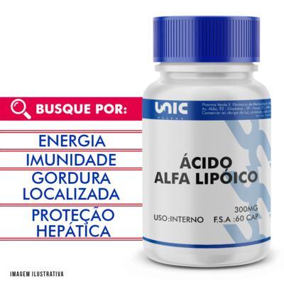 Ácido alfalipóico 300mg - 120 Cápsulas