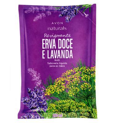 Sabonete Líquido para Mãos Refil Naturals Erva Doce e Lavanda - 250 ml