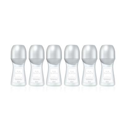 Kit Desodorante Roll-On Antitranspirante Pur Blanca 50ml - 6 Unidades