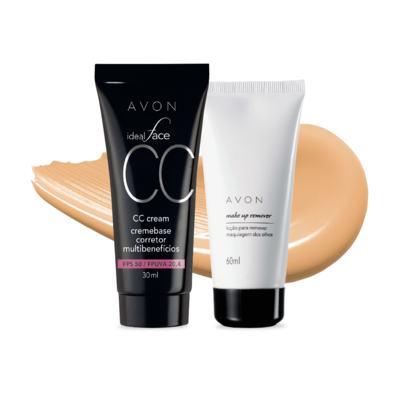 Kit CC Cream Bege Médio FPS50 e Removedor de maquiagem dos olhos