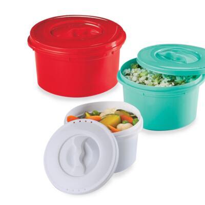 Imagem 1 do produto Kit 3 Panelas com Válvula Vermelha, Verde e Branca