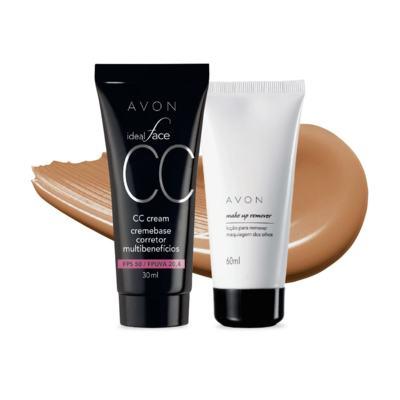 Imagem 1 do produto Kit CC Cream FPS50 e Removedor de maquiagem dos olhos - Mel FPS50 e Removedor