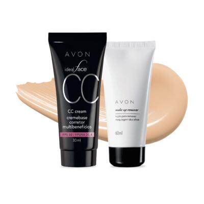 Imagem 1 do produto Kit CC Cream Amêndoa FPS50 e Removedor de maquiagem dos olhos