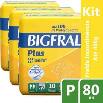 Imagem 5 do produto Kit Fralda Geriátrica Bigfral Plus P 80 unidades -