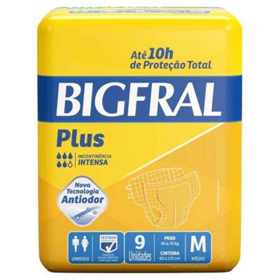 Imagem 2 do produto Kit Fralda Geriátrica Bigfral Plus M 72 unidades