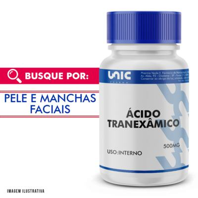 Ácido Tranexâmico 500mg - 90 Cápsulas