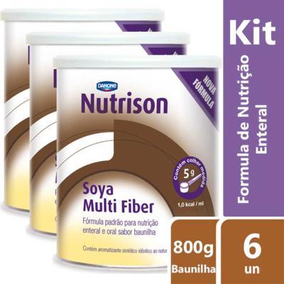 Imagem 2 do produto Kit Nutrison Soya Multi Fiber Baunilha 6 unidades de 800g