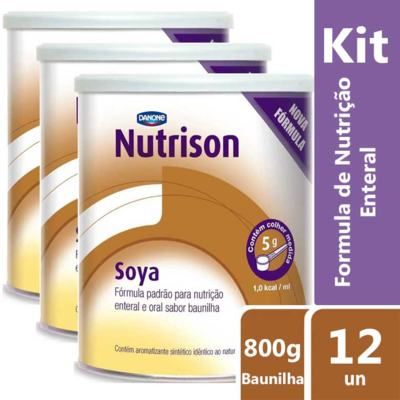 Imagem 4 do produto Kit Nutrison Soya Baunilha 6 unidades de 800g -