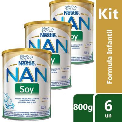 Imagem 4 do produto Kit Fórmula Infantil Nestlé Nan Soy 800g 12 unidades -
