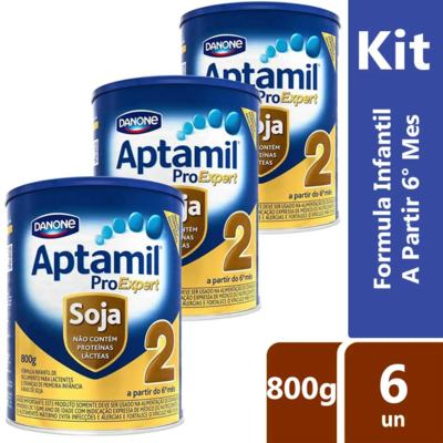 Imagem 2 do produto Kit Aptamil 2 Soja 800g 6 unidades