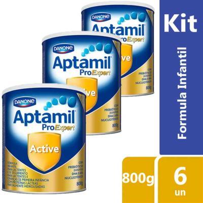 Imagem 6 do produto Kit Aptamil Active Fórmula Infantil 800g com 6 unidades - 800g