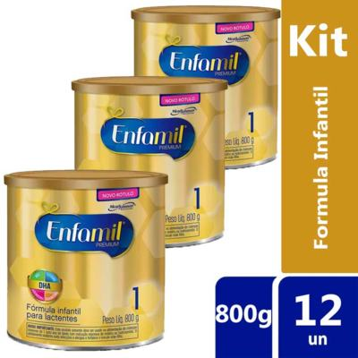Imagem 2 do produto Kit Enfamil 1 Premium 800g 12 unidades