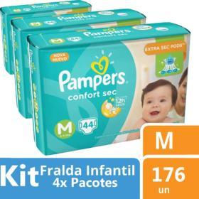 Fralda Pampers Confort Sec - M | 44 unidades