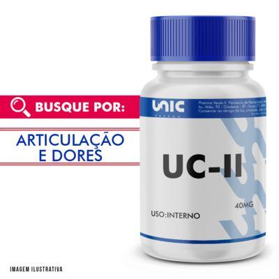 UC II (COLÁGENO TIPO 2) 40MG COM SELO DE AUTENTICIDADE - 120 Cápsulas