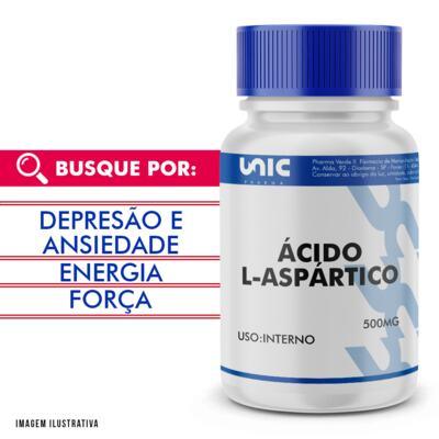 Imagem 1 do produto Ácido L-aspártico 500mg - 90 Cápsulas