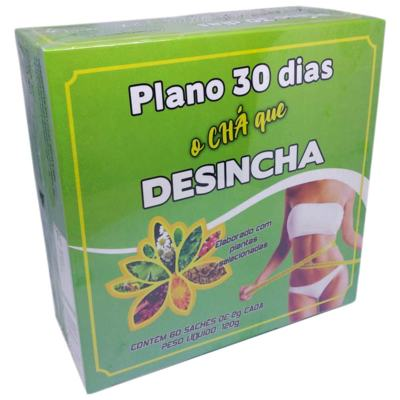 Chá Plano 30 Dias Desincha 60 Sachês