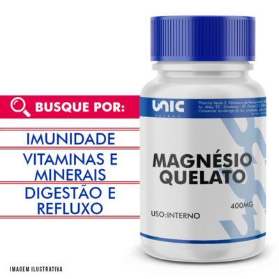 Magnésio quelato 400mg - 90 Cápsulas