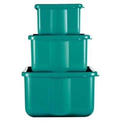 Kit 3 Potes Quadrados Basic